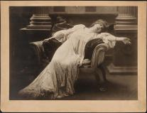 """Sarah Bernhardt in the title role of """"Adrienne Lecouveur"""" in 1880. The play is about the leading French actress of the 18th century and her mysterious death."""