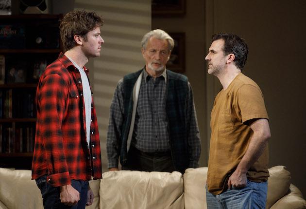Armie Hammer, Stephen Payne and Paul Schneider in Straight White Men