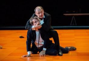 Denis Podalydès (Baron Konstantin Von Essenbeck), Clément Hervieu-Léger (Günther Von Essenbeck) in Ivo van Hove's The Damned