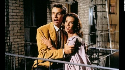 Richard Beymer and Natalie Wood in 1961 film of West Side Story