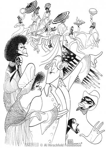1600 Pennsylvania Avenue, 1976 sketched by Al Hirschfeld