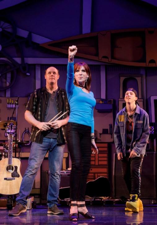 ) Paul Whitty, Marilu Henner, and Sawyer Nunes