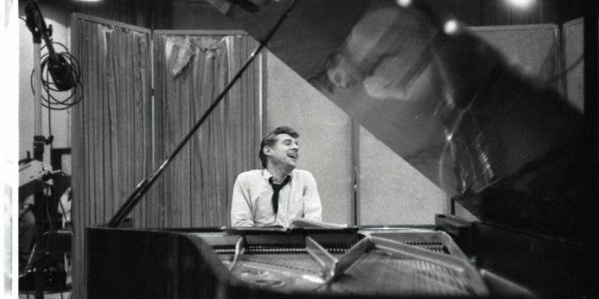 Leonard Bernstein at the piano