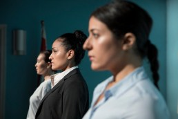 Intractable Woman cast: Nadine Malouf, Nicole Shalhoub, Stacey Yen: Photo by Julieta Cervantes