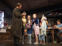Justin Edwards (Tom Kettle) [holding Pierce The Bunny], Carla Langley (Shena Carney – hidden), Willow McCarthy (Mercy Carney), Brooklyn Shuck (Nunu (Nuala) Carney), Matilda Lawler (Honor Carney), and Rob Malone (Oisin Carney)