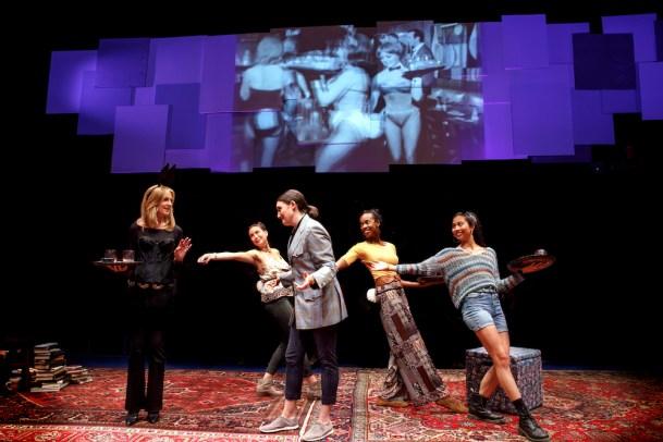 Christine Lahti, DeLanna Studi, Liz Wisan, Fedna Jacquet and Francesca Fernandez-McKenzie as Playboy Bunnies