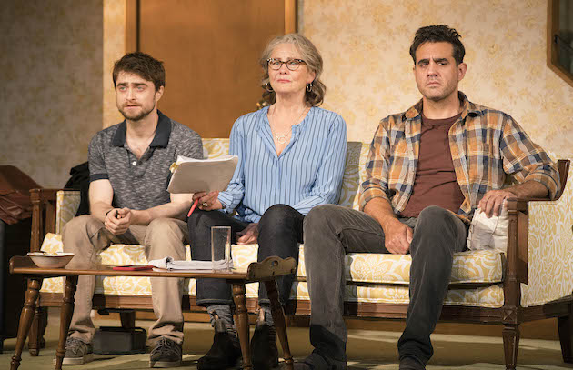The Lifespan of a Fact 1 Pictured L to R, Daniel Radcliffe, Cherry Jones, and Bobby Cannavale, Photograph by Peter Cunningham