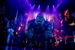 King Kong is an expressive creature -- those dreamy eyes, that sensitive sniffing of his nose - but he's most impressive when he's rushing through the dizzying streets of New York, and then up the Empire State Building, floor by floor, emitting that earthquake of a roar. ,(The projection, lighting and sound design are sensational.)