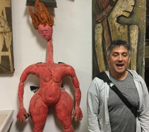La Mama's Federico Restrepo with his first-ever puppet, Loca 7