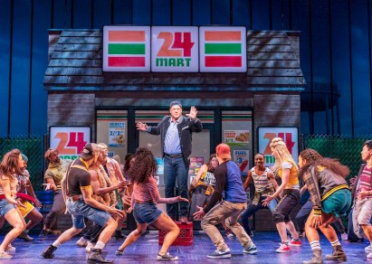 "Christopher Sieber in ""Love Thy Neighbor"" number on Broadway"