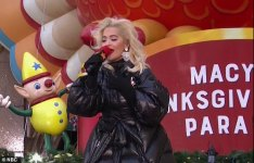 Rita Ora at Thanksgiving parade