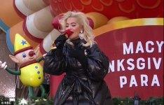 Rita Ora at Thanksgiving parade