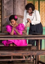 "L-R: MaameYaa Boafo and Zenzi Williams in the MCC Theater production of ""School Girls; Or, the African Mean Girls Play"""