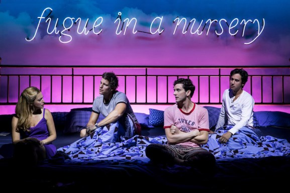 Roxanna Hope Radja, Ward Horton, Michael Urie, and Michael Hsu Rosen