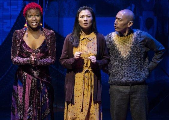 Lulu Fall as Digital Nanhee, Michelle Krusiec as Nanhee, and Francis Jue as Nanhee's father.