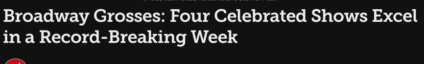 Broadwaycom record breaking week