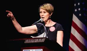 Cynthia Nixon campaigning for governor