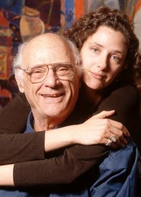 Rebecca Miller with Arthur Miller
