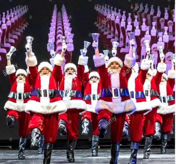 Santa chorus line at Radio City