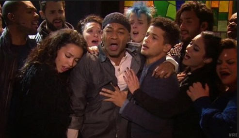 Brandon Victor Dixon in mourning