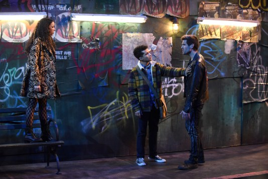 RENT: L-R: Tinashe, Jordan Fisher and Brennin Hunt in RENT a