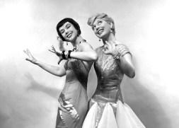 Yvonne Adair and Carol Channing in Gentlemen Prefer Blondes 1949