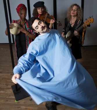 ": Eden Zane (foreground); and the ""shadow band"" - Goussy Célestin, Marija Kovacevic, Dawn Drake."