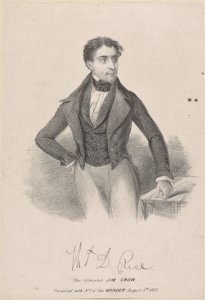 Thomas Dartmouth Rice, 1847, the entertainer who created the character of Jim Crow.