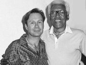 Bayard Rustin with his lover Walter Neagle in 1986, a year before Rustin's death at age 75