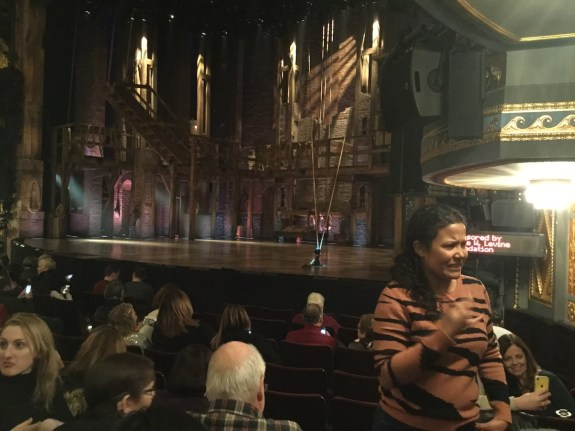 Hamilton on night when 125 audience members attended at discounted rate for open captioned performance