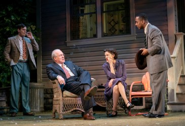 All My Sons 1 Benjamin Walker, Tracy Letts, Annette Bening and Hampton Fluker in Arthur Miller's ALL MY SONS, Photo by Joan Marcus 2019