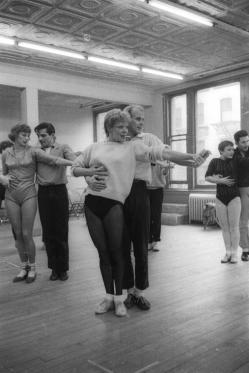 Bob Fosse and Gwen Verdon in rehearsal for New Girl in Town, 1957, which Fosse choreographed, and Verdon starred as Anna. (It was directed by George Abbott)
