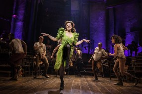 Amber Gray as Persephone and cast in Hadestown