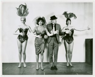 Betty Hyatt Linton (Valerie), Elaine Dunn (Gladys Bump), Bob Fosse (Joey Evans) and Pat Turner (Kid) in the 1963 revival of Pal Joey