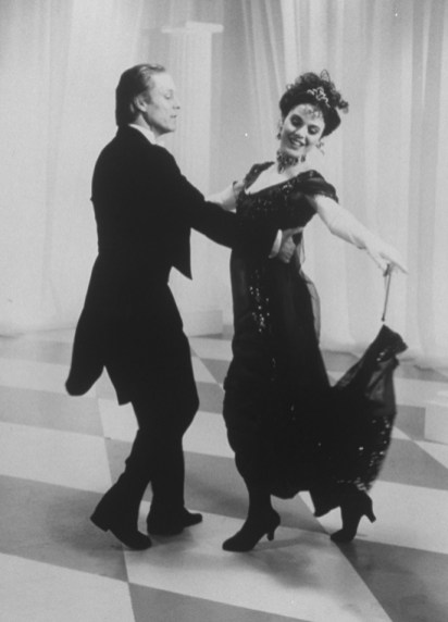 """Richard Chamberlain and Melissa Errico in a scene from the Broadway revival of the musical """"My Fair Lady,"""" 1993"""