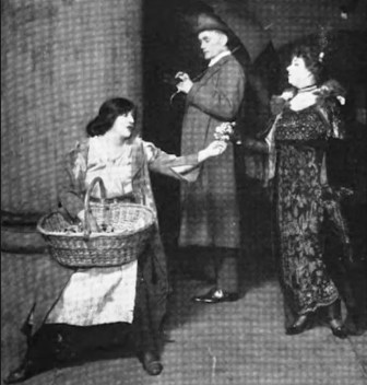 Mrs. Patrick Campbell was the first Eliza Doolittle, here in the first London run of Pygmalion, at His Majesty's theatre in 1914 -- a production that moved to Broadway later that year.