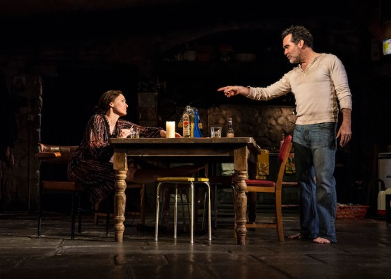 Holley Fain (Caitlin Carney) and Brian d'Arcy James (Quinn Carney