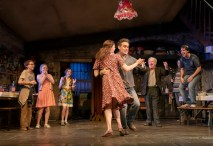 Brian d'Arcy James (Quinn Carney) and Holley Fain (Caitlin Carney) – center