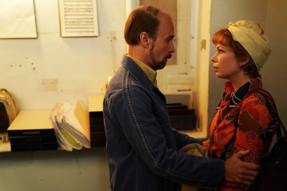 "FOSSE VERDON ""Nowadays"" Episode 7 (Airs Tuesday, May 21, 10:00 pm/ep) -- Pictured: (l-r) Sam Rockwell as Bob Fosse, Michelle Williams as Gwen Verdon. CR: Nicole Rivelli/FX"
