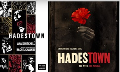 Hadestown Off Bway and Bway posters
