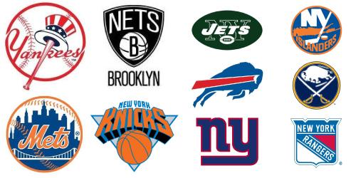 NY sports logos
