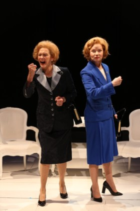 Kate Fahy and Susan Lynskey as the two Margaret Thatchers