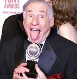 Mel Brooks with one of his Tonys