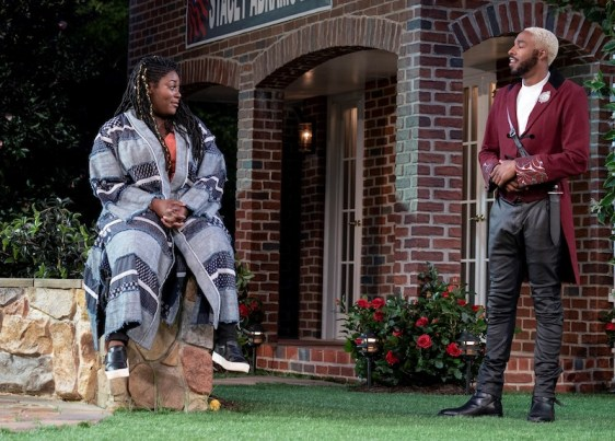 Danielle Brooks as Beatrice and Grantham Coleman as Benedick