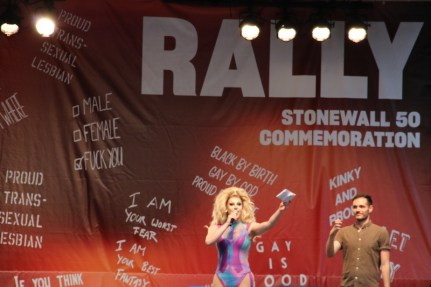 Stonewall rally stage