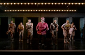 A Strange Loop: Larry Owens as Usher in Michael R. Jackson's A Strange Loop at Playwrights Horizons in 2019