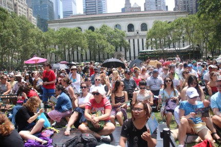 Broadway at Bryant Park audience July 11 2019
