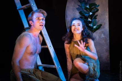 Ian Ward (Ancient Adam) and Sarah-Anne Martinez (Lilith) in Leaving Eden_Photo 3 by Michael Blase