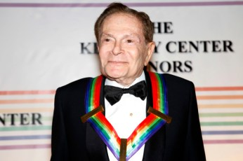 Jerry Herman walks the red carpet at the Kennedy Center Honors, in Washington, on Sunday, Dec. 5, 2010. The 2010 honorees are Merle Haggard, Herman, Bill T. Jones, Paul McCartney, and Oprah Winfrey. (AP Photo/Jacquelyn Martin)