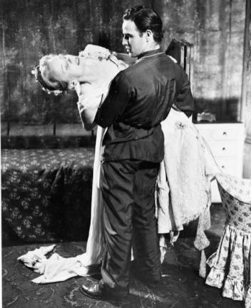 Marlon Brando and Jessica Tandy in A Streetcar Named Desire 1948